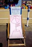 Deckchair hyra, Weymouth, Dorset, UK Royaltyfri Bild