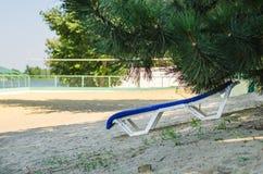 Deckchair na lato plaży fotografia royalty free