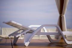 deckchair na plaży Obraz Stock