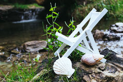 Deckchair in nature Royalty Free Stock Photo
