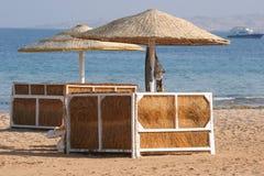Deckchair op een strand Royalty-vrije Stock Afbeelding
