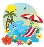 deckchair palma Zdjęcie Royalty Free