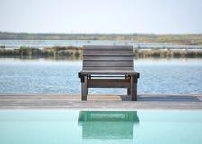 Deckchair by the sea Stock Photos
