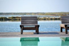 Deckchair by the sea Stock Image