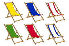 Deckchair for summer time Stock Image