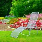 Deckchair w parku zdjęcia stock