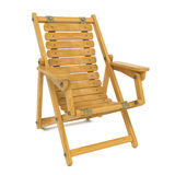 Deckchair on White Background. Stock Photography
