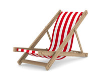 Deckchair on white background Royalty Free Stock Images