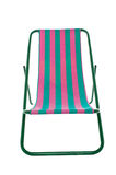 Deckchair on white background Royalty Free Stock Photography