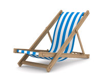 Deckchair on white background. Isolated 3D Royalty Free Stock Image