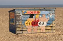 Deckchairs для найма Стоковое Изображение