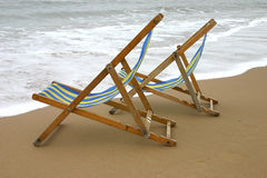 Deckchairs. The great British summer holiday Stock Image