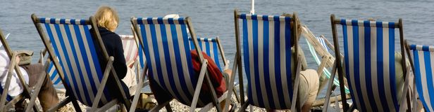 Deckchairs Royalty-vrije Stock Foto's