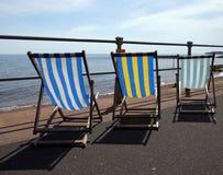 Deckchairs Imagens de Stock Royalty Free