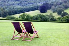 Deckchairs Stock Images
