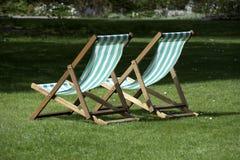 Deckchairs Lizenzfreies Stockfoto