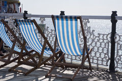 Deckchairs Obrazy Royalty Free