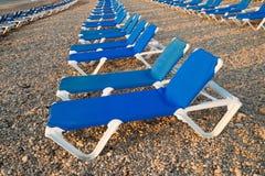 deckchairs Royaltyfria Bilder