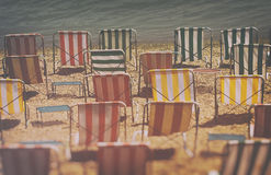 deckchairs Stockfoto
