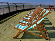Deckchairs Foto de Stock
