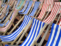 Deckchairs. Empty deckchairs in a London park Royalty Free Stock Photography