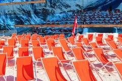 Deckchairs da montanha Foto de Stock