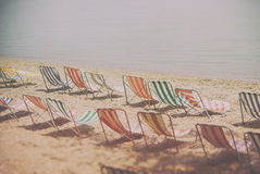 deckchairs Stock Photography