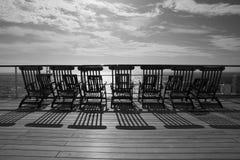 Deckchairs en Queen Mary 2 Imagenes de archivo