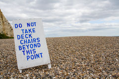 Deckchairs Forbidden Sign Royalty Free Stock Photography