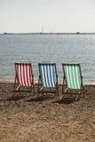 Deckchairs-Fotografie Stockfoto