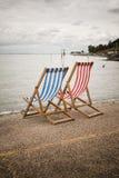 Deckchairs-Fotografie Stockfotografie