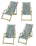 Deckchairs isolated on white with clipping path Stock Image