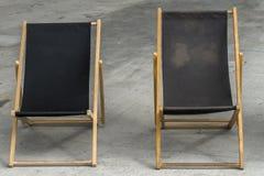 Deckchairs na ulicie obraz royalty free