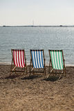 Deckchairs photograph Stock Photo