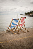 Deckchairs photograph Stock Photography