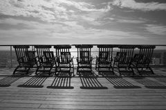 Deckchairs on Queen Mary 2 Stock Images