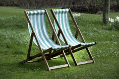 Deckchairs Royalty Free Stock Photography