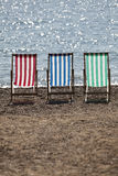 Deckchairs. Stock Images