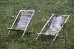 Deckchairs In Wilderness Royalty Free Stock Photo