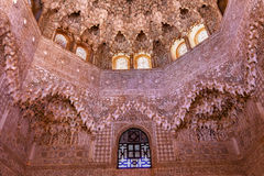 Decke Alhambra Arch Moorish Wall Designs Granada Andalusien Spanien Lizenzfreies Stockbild