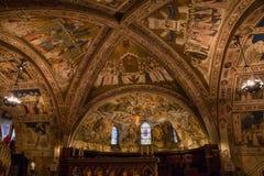 Decke der Basilika von StFrancis von Assisi Italien Stockfotografie