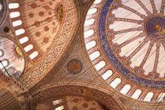 Decke an der blauen Moschee, Istanbul lizenzfreie stockfotografie