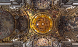 Decke der Gesú-Kirche, Rom Stockfotografie