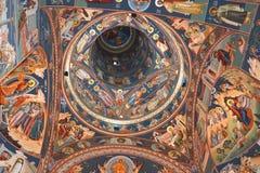 Decke der Kirche Heilig-Anna--Rohiakloster, aufgestellt in einem natürlichen und lokalisierten Platz, in Maramures, Siebenbürgen Stockfotografie