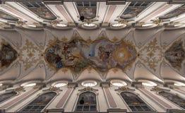 Decke der München-Kathedrale - Santi Joseph Lizenzfreie Stockfotografie