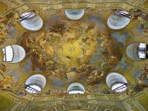 Decke der Nationalbibliothek in Österreich, Wien stockfotos