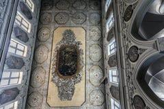 Decke der Santa Restituta-Kapelle in der Neapel-Kathedrale Stockfotos