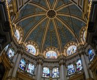 Decke des Chores der Kathedrale von Granada lizenzfreies stockbild