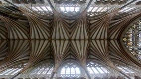 Decke des Chores in Exeter-Kathedrale stockfotografie