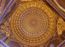 Decke des islamischen Gebäudes Stockfotografie